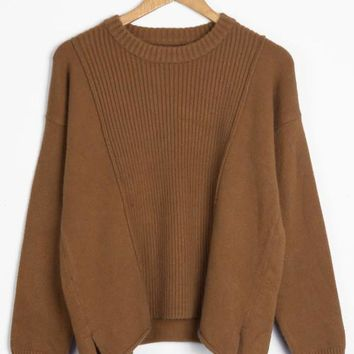Cupshe By My Side Solid Color Knitting Sweater