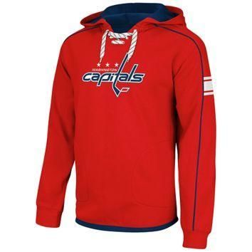 Reebok Washington Capitals Faceoff NHL Team Jersey Pullover Hoodie - Red