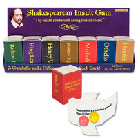 Shakespearean Insult Gum: 7-Piece Set