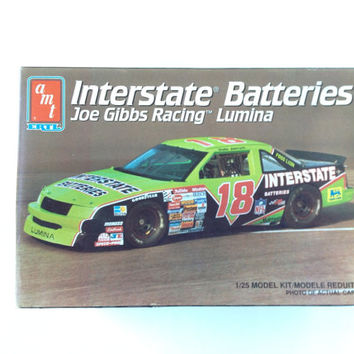 Vintage NASCAR Dale Jarrett Model Car by Interstate Batteries