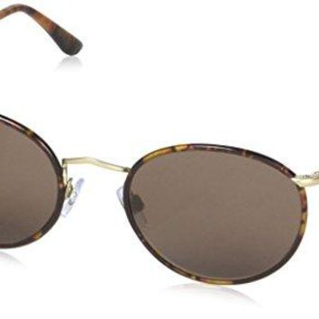 Giorgio Armani Sunglasses (AR6016J) Gold Matte/Brown Metal - Non-Polarized - 51mm