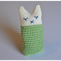 Cat soft toy Knit Cat Toy Handmade Baby toy nursery toy decoration