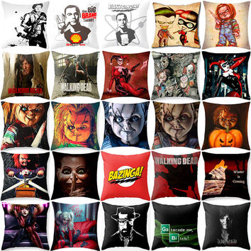 The walking dead Harry Quinn Chucky Cushion covers Polyester sequin pillow cover