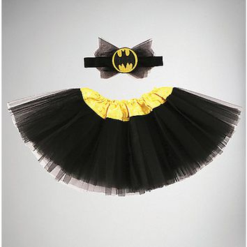 Batgirl Baby Tutu Headband Set - Spencer's