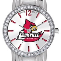 Women's Game Time Watches 'College All Star - University of Louisville' Crystal Bezel Bracelet Watch, 32mm