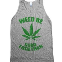 Athletic Grey Tank | Funny Weed Shirts