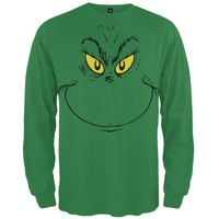 Dr. Seuss - Grinch Face Long Sleeve