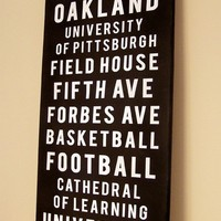 Bus roll tram transit sign for a sports fan!!