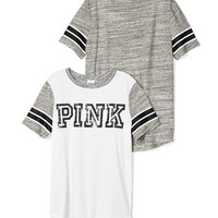 Curved Hem Bling Tee - PINK - Victoria's Secret