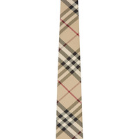 Burberry London Beige House Check Silk Tie
