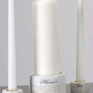 "2 Unity Candle Sets - Taper Candles Are 10 "" H"