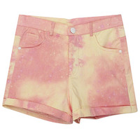 ROMWE | Main Pink Tie-dyed Galaxy Shorts, The Latest Street Fashion