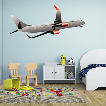 kcik21 Full Color Wall decal air transport aircraft flying children's room