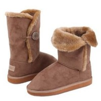 Shoes 18 Womens Short Faux Sheepskin Fur Shearling Boot With Side Bow