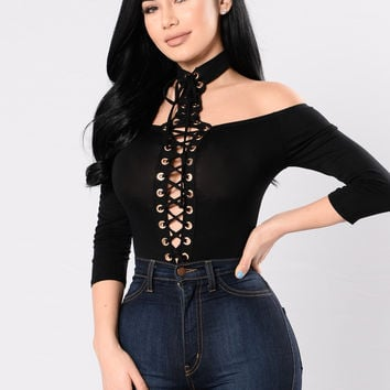 Outta My Way Bodysuit - Black