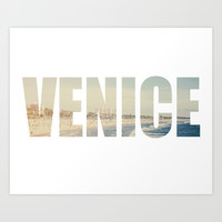 Venice Beach  Art Print by SoCalPhotography