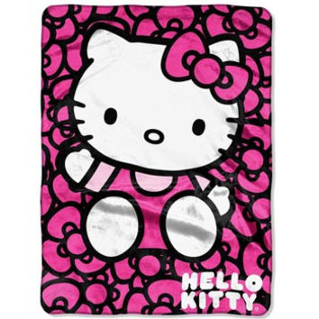 Hello Kitty- Lots of Bows 60x80 Blanket - Free Shipping in the Continental US!