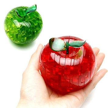 Stunning Great Apple 3d Stereo Creative Dimensional Crystal Puzzle Adult Children Gift = 1695431940
