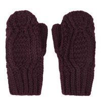 CABLE POM MITTEN