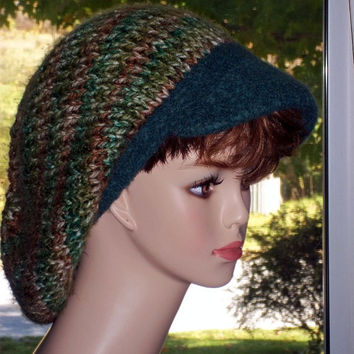 Pattern Newsboy Hat Knit
