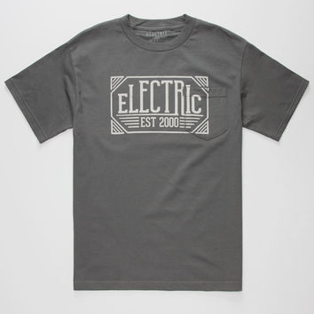 Electric Anne Arbor Mens Pocket Tee Charcoal  In Sizes