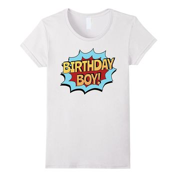 Birthday Boy Shirt for Toddlers & Kids - Superhero Gift Tee