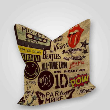 5 seconds of summer one direction pow brotherhood Square, pillow case, pillow cover, cute and awesome pillow covers