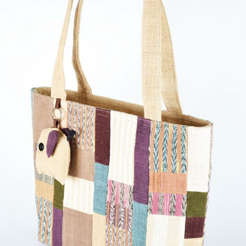 Cotton Tote Bag Mixed colors With zipper On Side (CTB031)