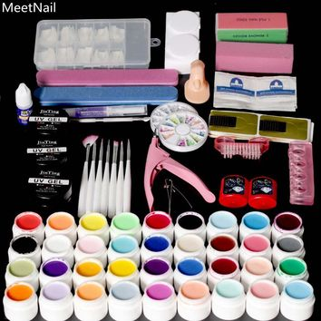 MeetNail 36 Pure Color UV LED Nail Gel Manicure UV Gel Nail Art Diy Nail Tools Sets Kits for 36W UV or 24W or 6W Lamp