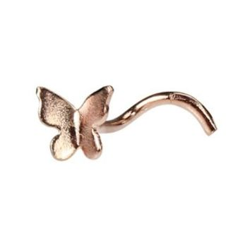 3D Butterfly Nose Ring - Rose Gold