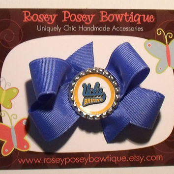 RPB University of California Los Angeles UCLA Bruins Inspired College Team Spirit Girls Hair Bow