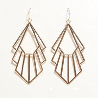 With Love From CA Deco Outline Dangle Earrings at PacSun.com