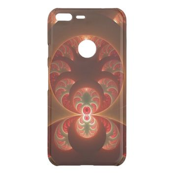 Luminous abstract modern orange red Fractal Uncommon Google Pixel XL Case
