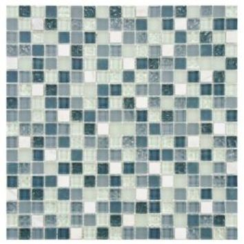 Merola Tile, Tessera Alaskan View 11-3/4 in. x 11-3/4 in. x 8 mm Glass Mosaic Wall Tile, GDXMSAV at The Home Depot - Mobile