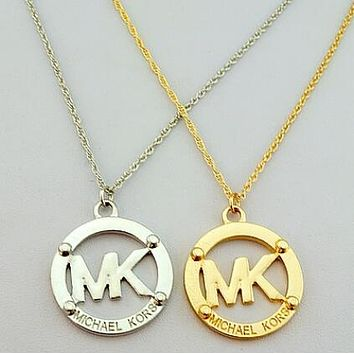 MK Trending Women Stylish Classic Simple Titanium Steel Necklace I12304-1