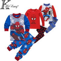 2-7 yrs boys&girls pijamas spiderman cotton children pyjamas sleepwear baby kids pajama set spider man toddler boy clothes set