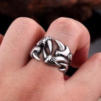 Dragon Claw Biker Ring