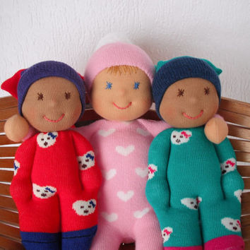 SALE Waldorf Pocket dolls - Choose three and the CHEAPEST is FREE  - fast delivery via Fedex