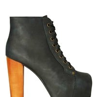 Jeffrey Campbell Lita Platform Boot - Distressed Black