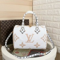 LV Louis Vuitton MONOGRAM CANVAS SPEEDY 30 HANDBAG SHOULDER BAG