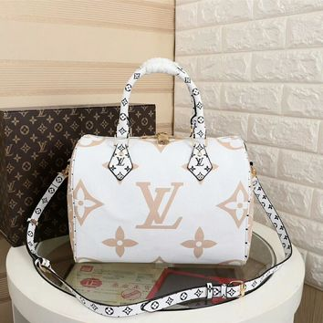 1c47f0b587da LV Louis Vuitton MONOGRAM CANVAS SPEEDY 30 HANDBAG SHOULDER BAG