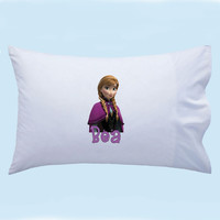 Personalized Frozen Anna from Disney Custom Pillowcase