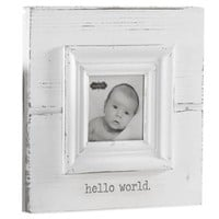 "Mud Pie® ""Hello World"" Photo Frame in White"