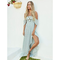 Bohemian Botanica Mermaid Maxi by Gypsy Mermaid