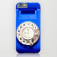 OLD PHONE - BLUE EDITION - for iphone iPhone & iPod Case by Simone Morana Cyla