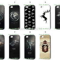 You deserve 9 pcs/lots Game of thrones   hard Black case cover for iphone 5 5th 5S+free shipping