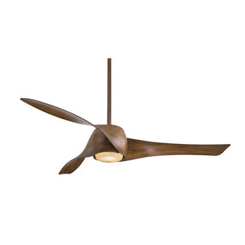 Minka Aire F803-DK Artemis 58-Inch Ceiling Fan with Three Blades in Distressed Koa Finish