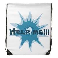 Blue bullet hole. Add your text. Drawstring Backpack