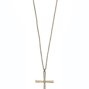 Long Chain Cross Vintage Necklace