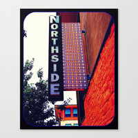 Northside Stretched Canvas by Jensen Merrell Designs